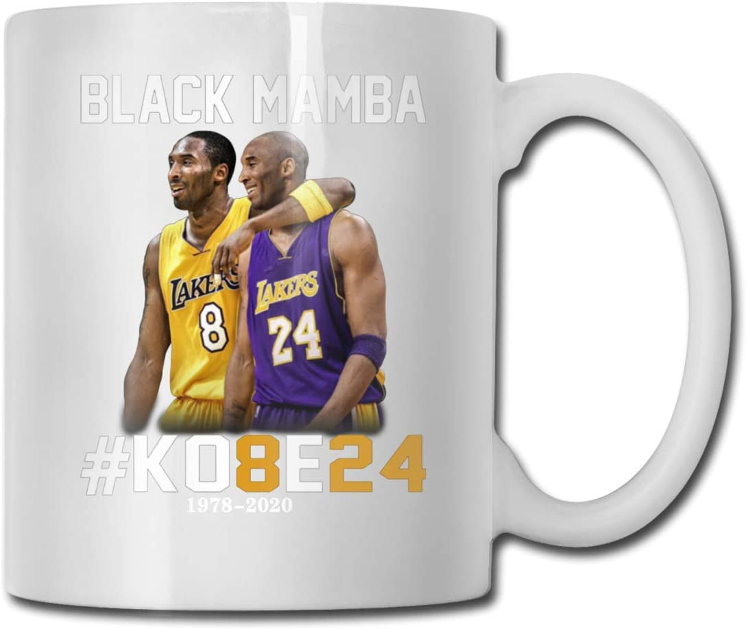 JASFAWhawa Our Best Kobe 8 and 24 Our Hero Black Mamba Ceramic Mug Coffee Cup Teacup Office and Home Capacity 330ml