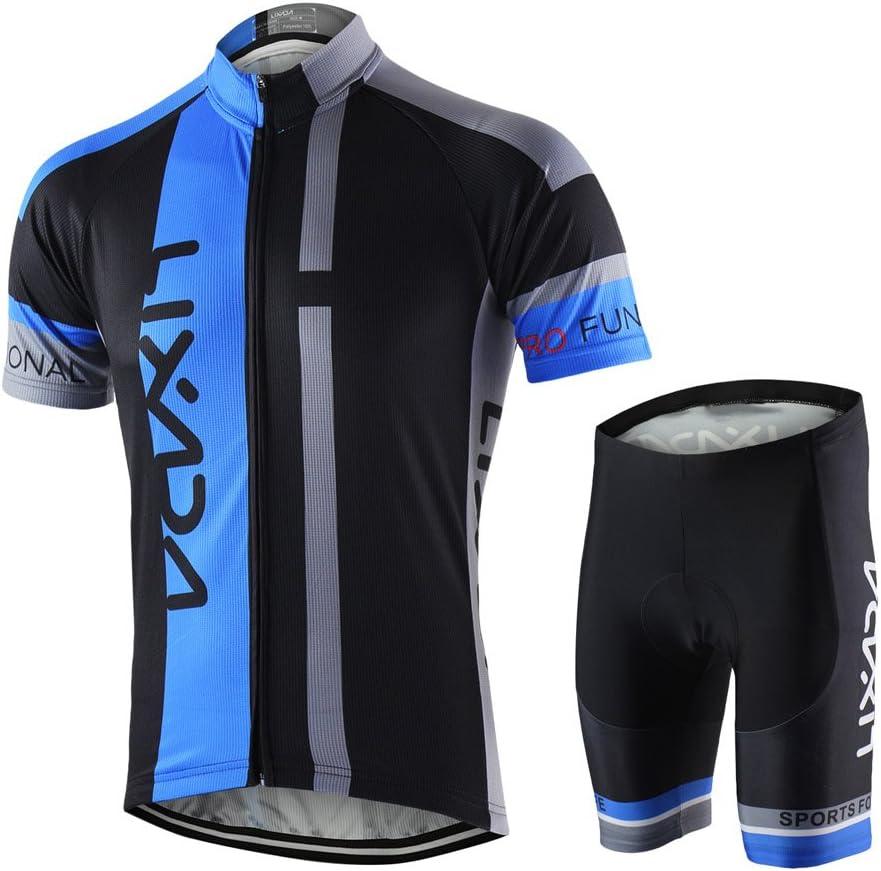 Lixada Maillots de Ciclismo Hombres Camiseta y Pantalones Cortos ...