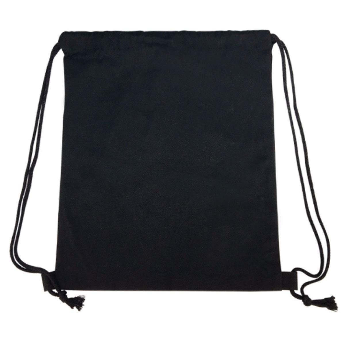 Backpack Drawstring Drawstring Deadpool Printed Canvas Pocket School Book Bag Unisex Satchel Rucksack 6-12 Year Old Black-4034CM