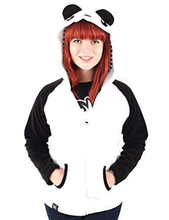 42a7f30ef0230 Crazyheads Fleece Panda Hoodie with Eyes - XXX-Large - White at ...