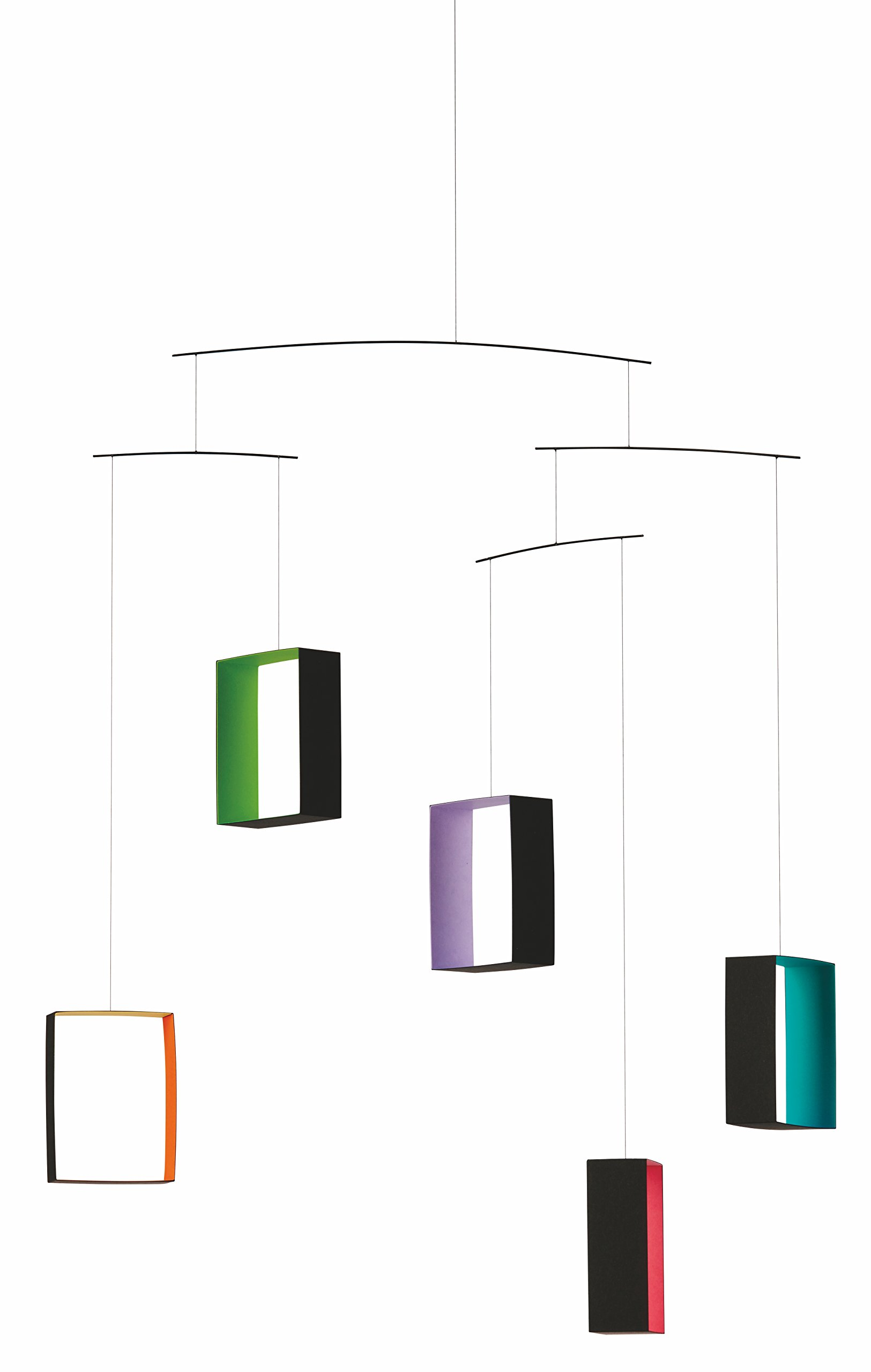 Windows, Colored Views Hanging Mobile - 26 Inches - Handmade in Denmark by Flensted