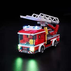 BRIKSMAX Kit de Iluminación Led para Lego City Camión de Bomberos con Escalera, Compatible con Ladrillos de Construcción Lego Modelo 60107, Juego de Legos no Incluido: Amazon.es: Juguetes y juegos