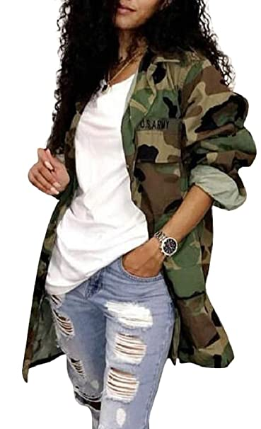 Amazon.com: Xswsy XG - Chaqueta de camuflaje para mujer ...