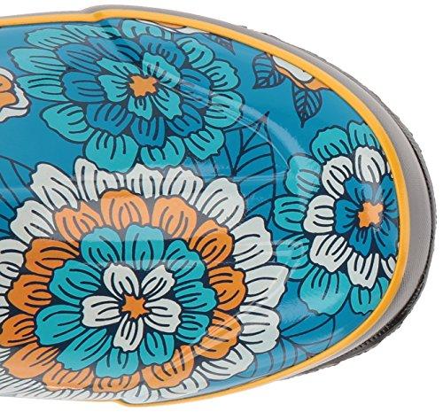 Bogs Femmes Pansies Pluie Botte Ciel Bleu / Multi