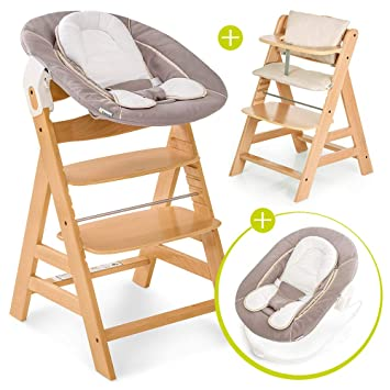 Hauck Alpha Plus Newborn Set Chaise Haute Bebe En Bois Evolutive