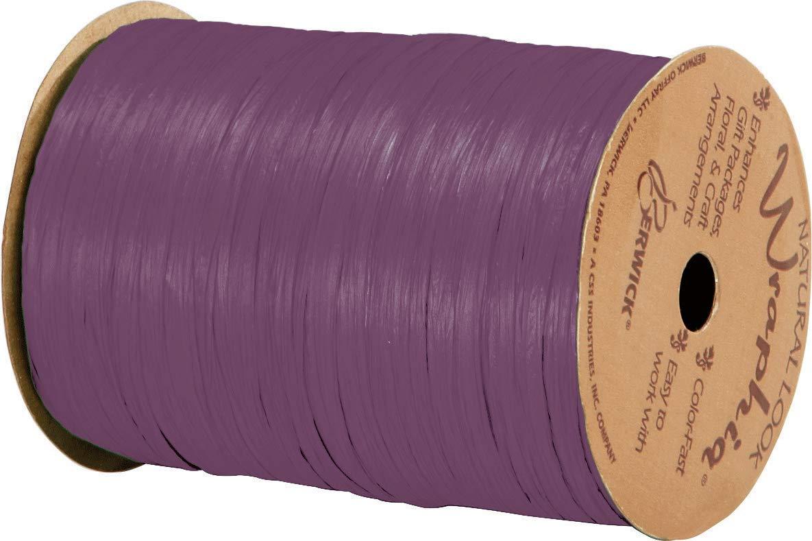 Matte Grape Wraphia Ribbon 1//4 x 100 Yards