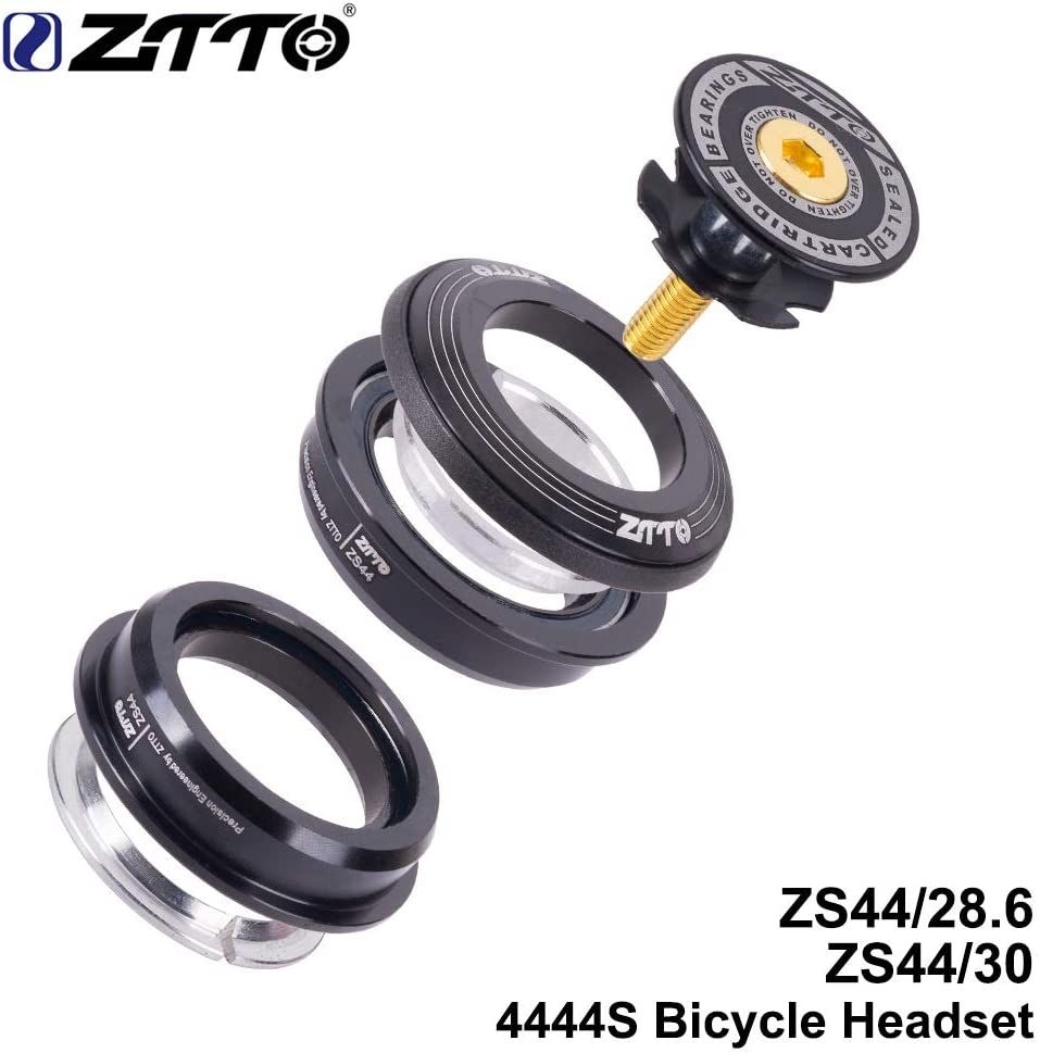 Alician ZTTO Bicycle Headset MTB Road Bike Steering Column Headset 44mm Straight Tube Fork Bike Frame Low Profile Semi-Integrated Outdoor Supplies