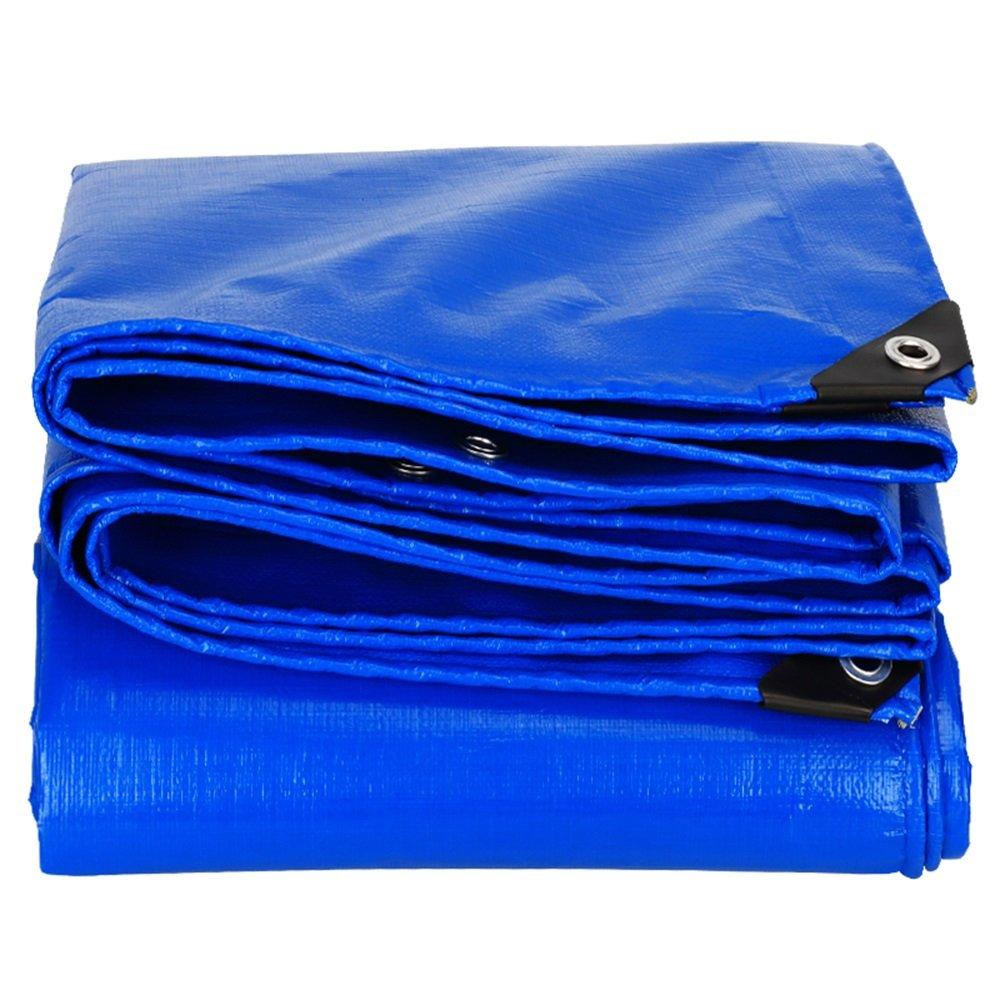 青0.28ミリメートルターポリン/防水日陰の布/屋外の雨の布/トラックのフロントガラスの防水シート/断熱布/使用可能な様々なサイズ ( サイズ さいず : 5*10m ) B07CLWXN62 5*10m  5*10m