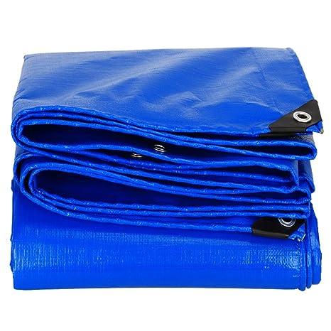 Tarpaulin Azul Lona de 0,28 mm/Impermeable paño de Sombra para el Sol