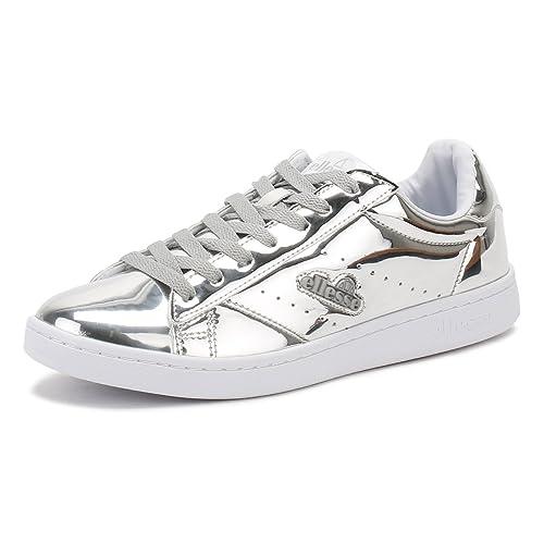 Ellesse Mujer Plata Anzia Metallic Zapatillas: Amazon.es: Zapatos y complementos