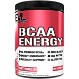 Evlution Nutrition BCAA Energy - High Performance Energizing Amino Acid Supplement For Muscle Building, Recovery And Endurance, 30 Servings (Watermelon)