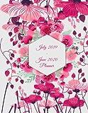 July 2019-June 2020 Planner: Pink Floral, Calendar