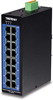 TRENDnet TI-G160WS 16-Port Industrial Gigabit Web Smart DIN-Rail Switch