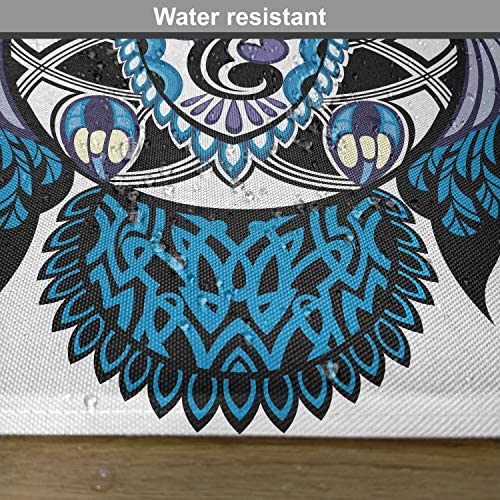 Blue Set of 4 Placemats and Coasters Fancy A Snuggle Tribal Cult Tattoo