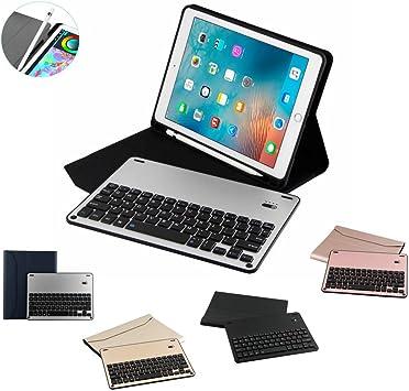 Funda con Tapa para Apple iPad de 9,7 Pulgadas, Teclado ...