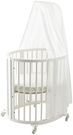 Stokke Sleepi Mini Crib Bundle with Mattress Drape Rod- White