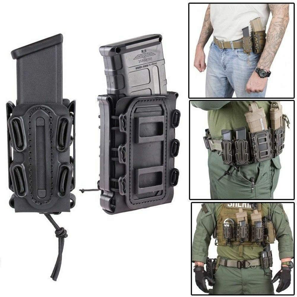 Ace Hunter Magazine Pouch 45ACP 5.56 7.62 9MM Pistol Mag Carrier Holster for Belt Molle New 614azeLvMAL