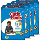 Cuties Toddler Training Pants for Boys, Size 3T-4T, 23-Count, Pack of 4