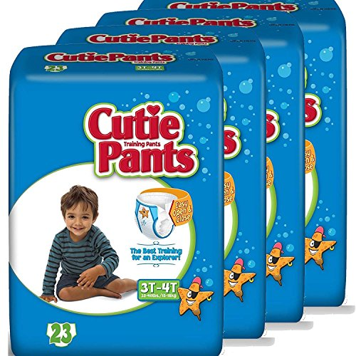 Cutie Pants Toddler Training Pants (Boys, Size 3T - 4T, 26-Count,), Pack of 4
