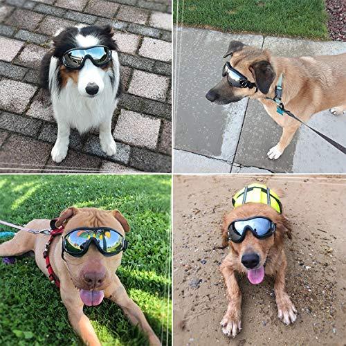 Dog Goggles - Dog Sunglasses Pet Sunglasses Medium to Large Dogs (Black) by K&L Pet (Image #5)