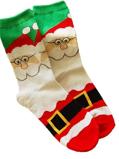 vendita più calda bambino migliore a buon mercato Calzini da uomo Donne Taglia 6-11 Calf Sock Calze di Natale ...