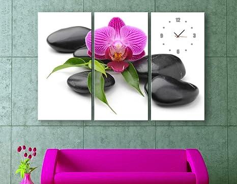 Orologi Da Parete In Tela : Tripla pittura decorativa soggiorno moderno orologio orologio da