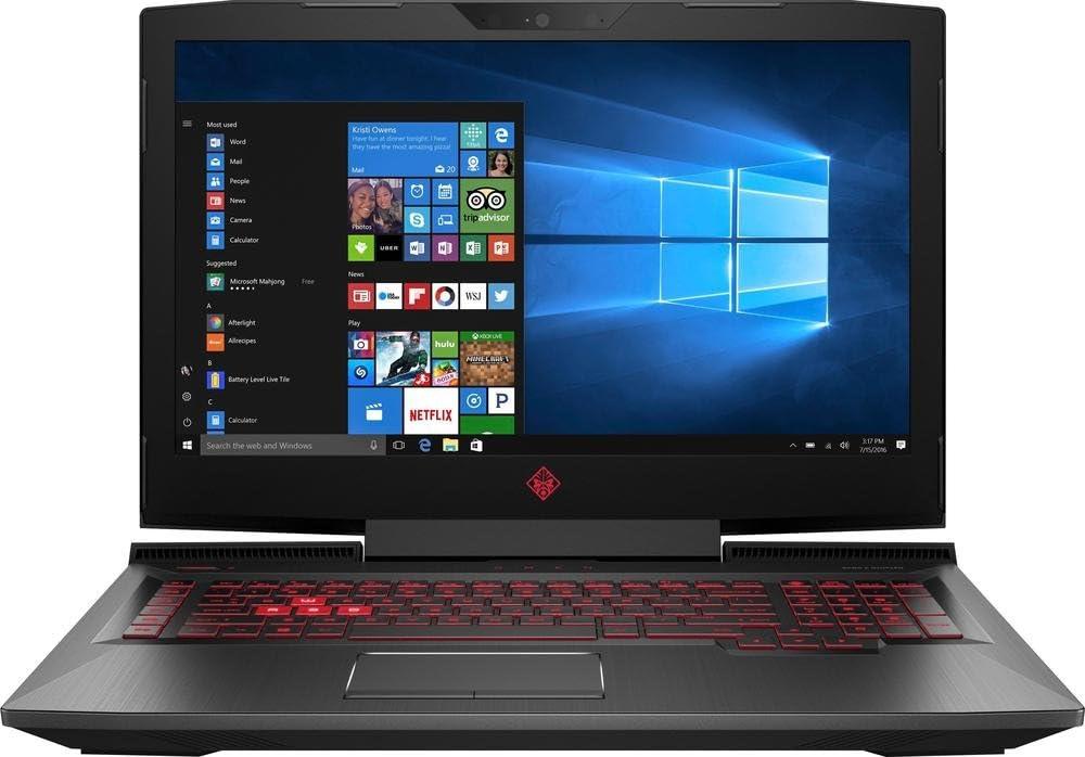 HP OMEN 17-AN012DX 17.3inch Full HD Gaming Laptop: Intel i7-7700HQ Quad Core Processor, AMD Radeon RX580 8GB Graphics, 12GB DDR4 RAM, 1TB Hard Drive