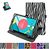 """Mama Mouth 360 Degree Rotating Stand With Cute Pattern Case for 8"""" Nextbook Ares 8 (NXA8QC116) / Flexx 8 (NXW8QC132) / Nextbook 8 (Old Version NXW8QC16G) Windows 8.1 Tablet,Zebra Black"""