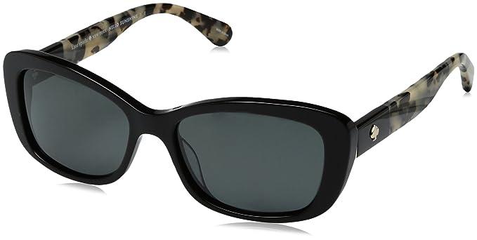 bebcf756d76e Kate Spade Women's Claretta/p/s Polarized Rectangular Sunglasses BLACK  HAVANA 53 mm