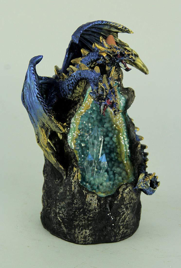 Everspring Blue Dragon On LED Geode Crystal Stone Incense Burner by EVERSPRING (Image #2)