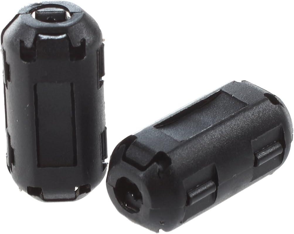 Schwarz ACAMPTAR R 5 Stueck Laerm Suppressor Ferritkern Filter Fuer 4mm Durchmesser Kabel