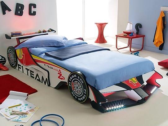 Lit voiture led cama coche juvenil tematico with lit - Cama coche conforama ...