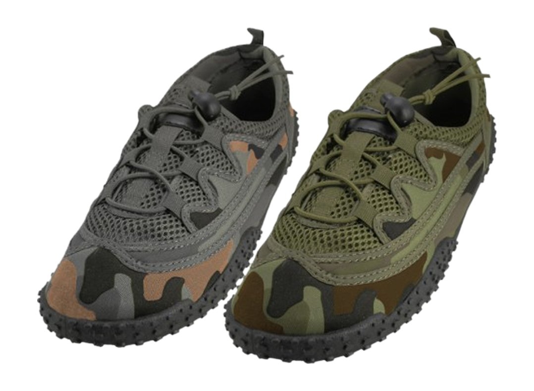 DandyLines Easy Wear Men's Water Shoes-Camo Green or Gray B01N5SONQB 7 D(M) US|Camo Gray