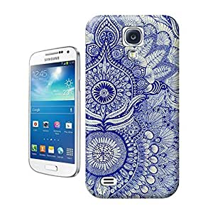 Unique Phone Case Exquisite art pattern blue Hard Cover for samsung galaxy s4 cases-buythecase