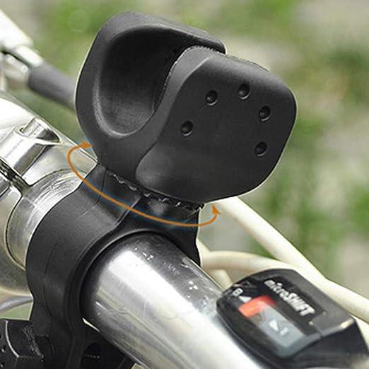 LIOOBO 2 St/ücke Taschenlampe Halter 360 Grad Einstellbar Universal Fahrrad Taschenlampe Lampenhalterung Klemmst/änder Halter f/ür Fahrrad Schwarz