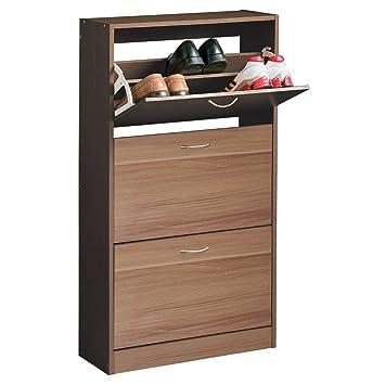 Incroyable Premier Housewares 3 Drawer Shoe Cupboard With Veneer   117 X 63 X 24 Cm,