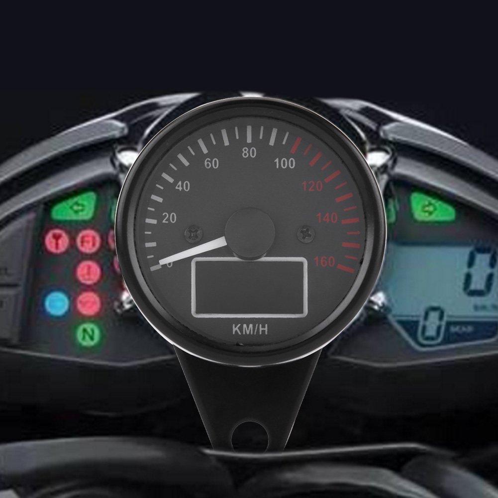 Universal Digital Motorcycle Speedometer led lCD KMH Keenso Motorbike Tachometer Speed Gauge 160KMH DC12V