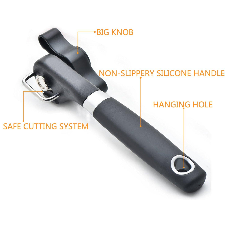 mod/èle aiguis/é facile /à tourner avec poign/ées douces de haute qualit/é /Ouvre-bo/îtes professionnel ergonomique /à bord lisse Pemotech/
