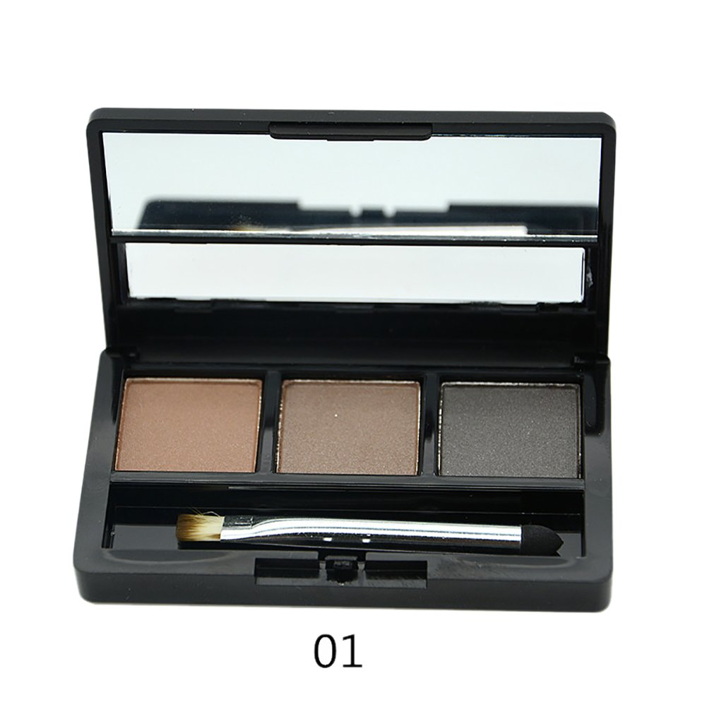 Etosell Sourcils Cosmetiques Professionnels Poudre Palette Maquillage Ombrage Kit + Brush Set Miroir