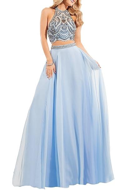 Bridal_Mall - Vestido de novia - trapecio - Sin mangas - Mujer Azul Azul Claro 42