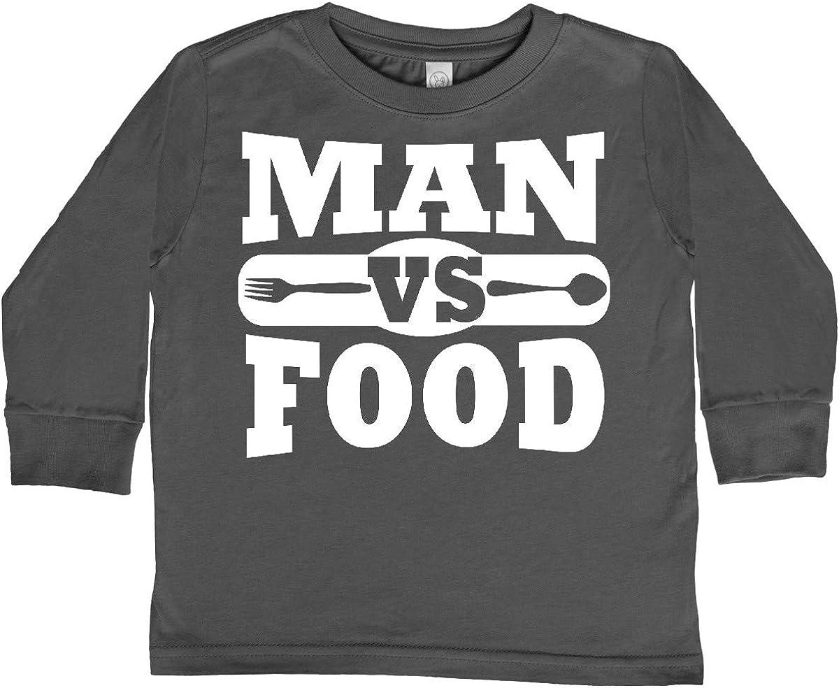 inktastic Man Vs Food Toddler Long Sleeve T-Shirt
