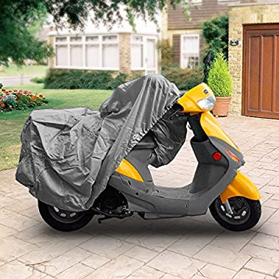 """Neh Superior 4 Layer Material Weatherproof Scooter Moped Motorcycle Cover Covers : Fits Up To Length 80"""" - All Scooter + Mopeds - Yamaha Honda Suzuki Kawasaki Ducati Bmw Aprilia Triumph"""