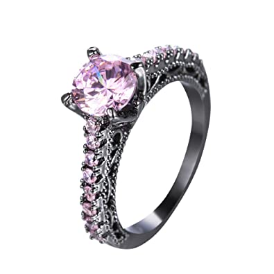 Amazon.com Rny Jewelry Retro Vintage Pink Sapphire Jewelry