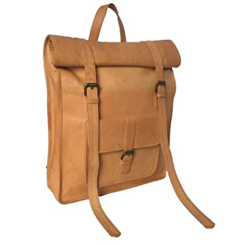 8904bf219636 E-Tailor Unisex Leather 20 LTR. Brown Laptop Backpack-14x22 Inch-BP501   Amazon.in  Bags