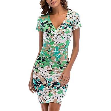 Vestido Slim Fit Corto de Verano, Vestido Fiesta Mujer Vestido De ...