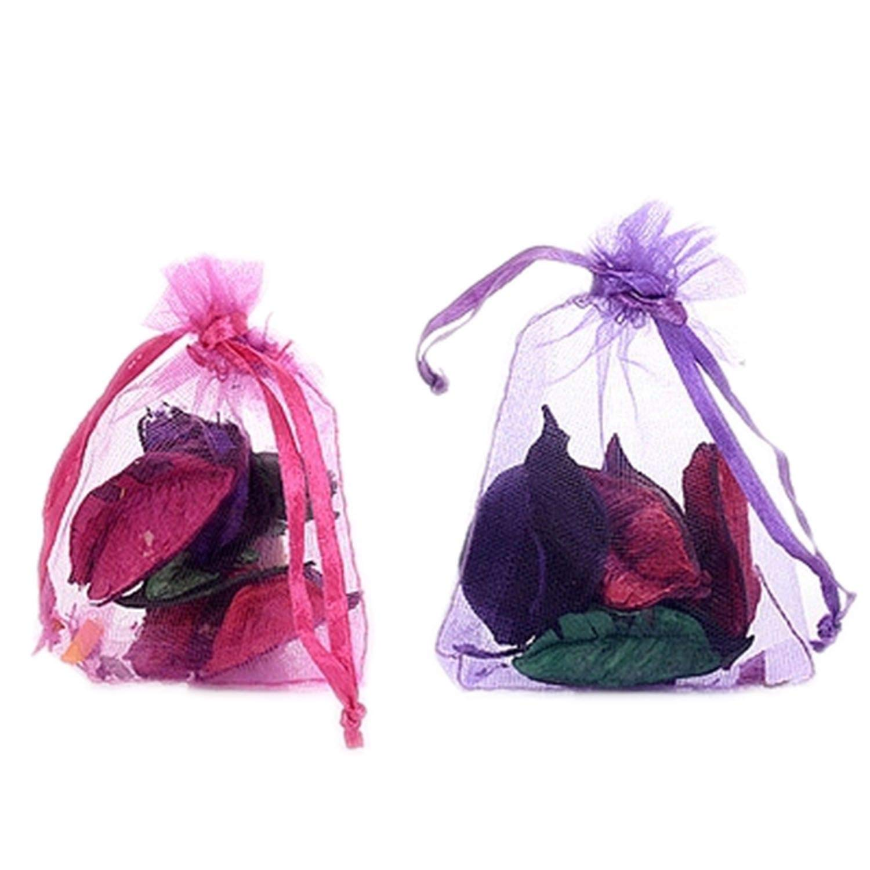 Flamingogogo Natural Dried Flowers Incense Bag Pillow Shape Aromatic Air Freshener Scented Sachets Wardrobe Car Home Decor,A,12pcs