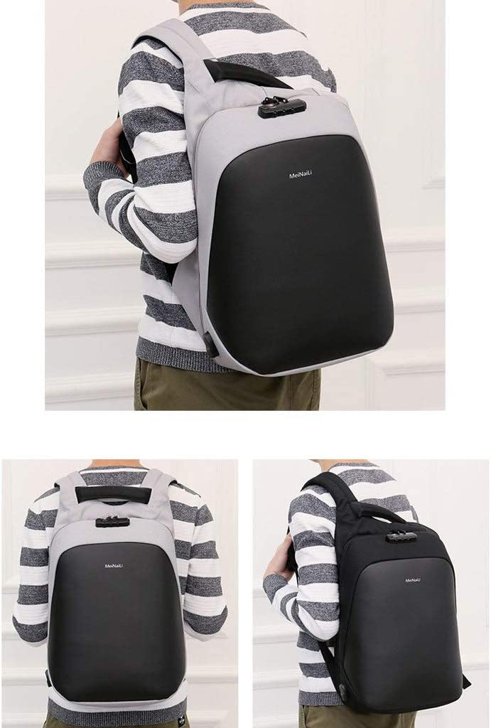 Laptop Bag Backpack 14//15//15.6 Inch Anti-Theft Password Lock Shockproof Charging Port Business Computer Bag