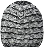 Calvin Klein Women's Plaited Slouchy Beanie, Black, One Size