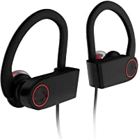 JAAP Wireless Bluetooth 4.2 Sports Earphones with mic Super Bass 10 Hours Playtime handsfree Calling sweatproof Waterproof with Free Hard Eva Carrying case for Gym
