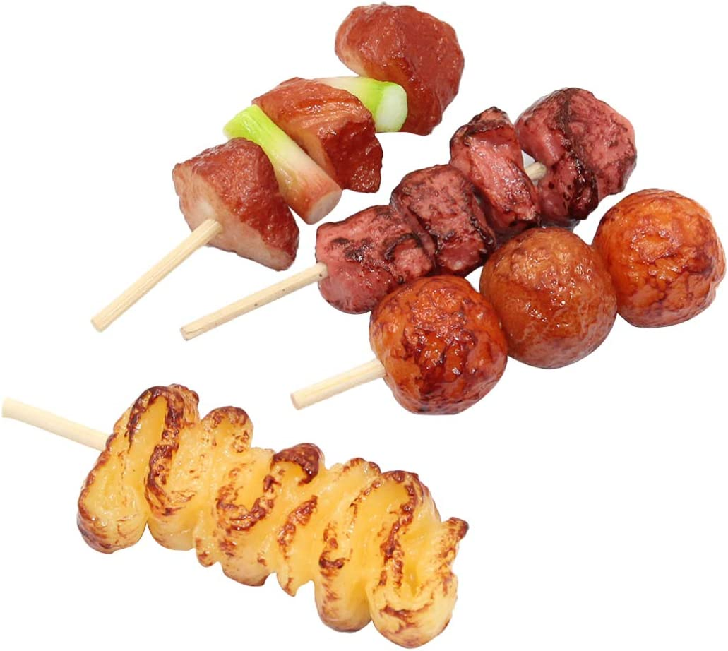 TOYANDONA 4pcs Barbecue Simulation Food Artificial Fake Food Model Play Food Kids Toy Home Kitchen Party Decoration Store Market Display Photography Props